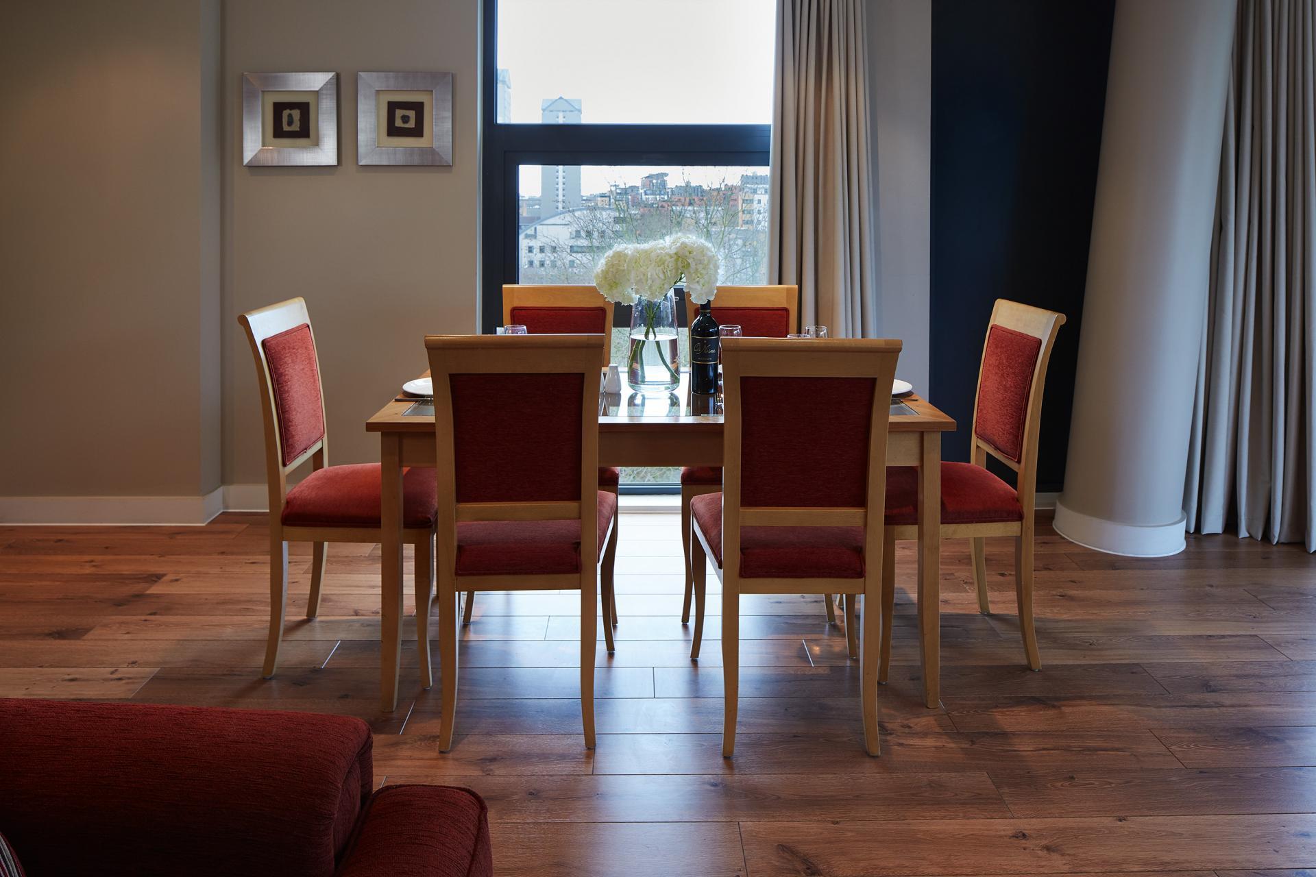 Dining area at Marlin Canary Wharf Apartments, Canary Wharf, London