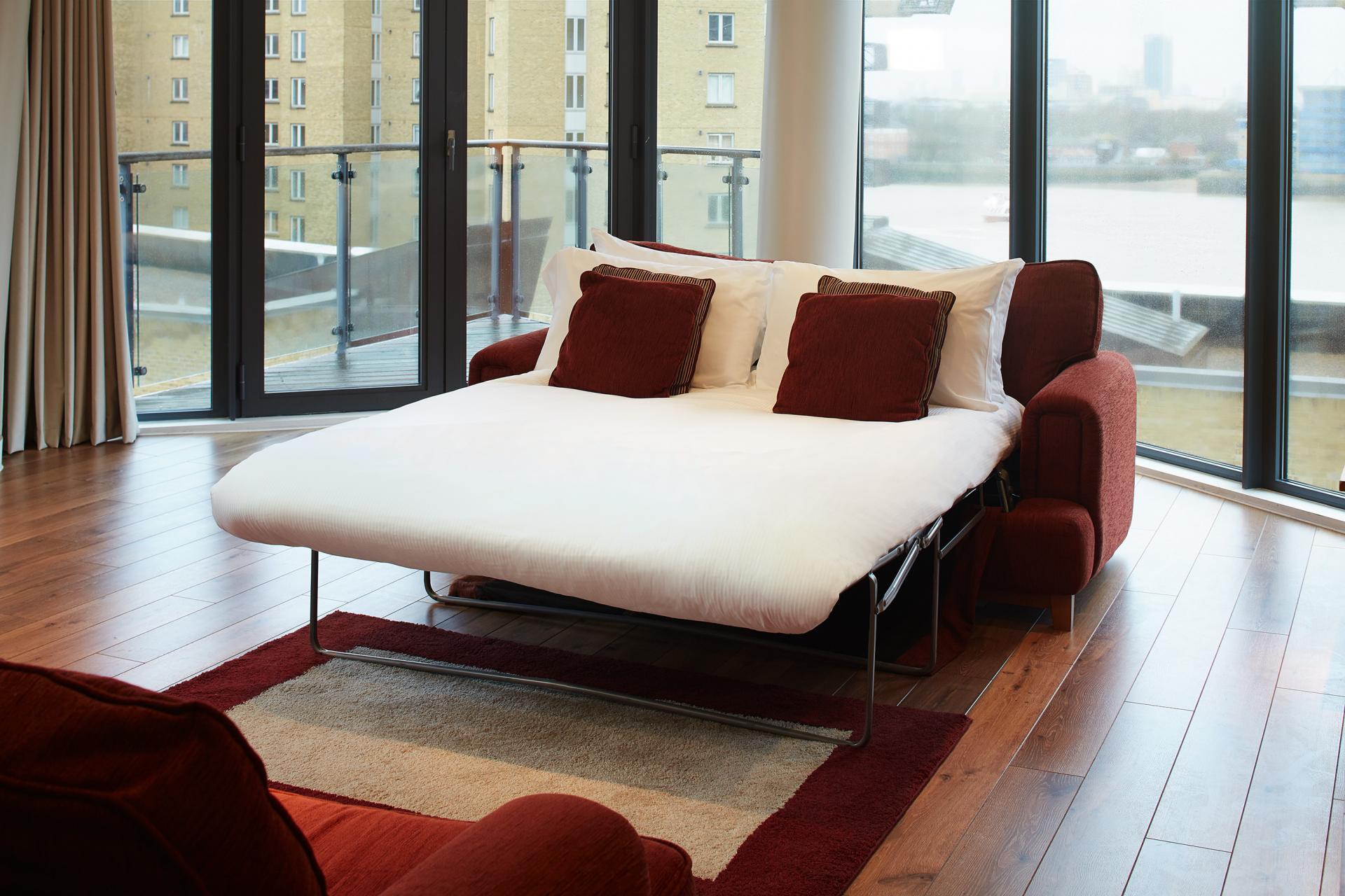 Sofa bed at Marlin Canary Wharf Apartments, Canary Wharf, London