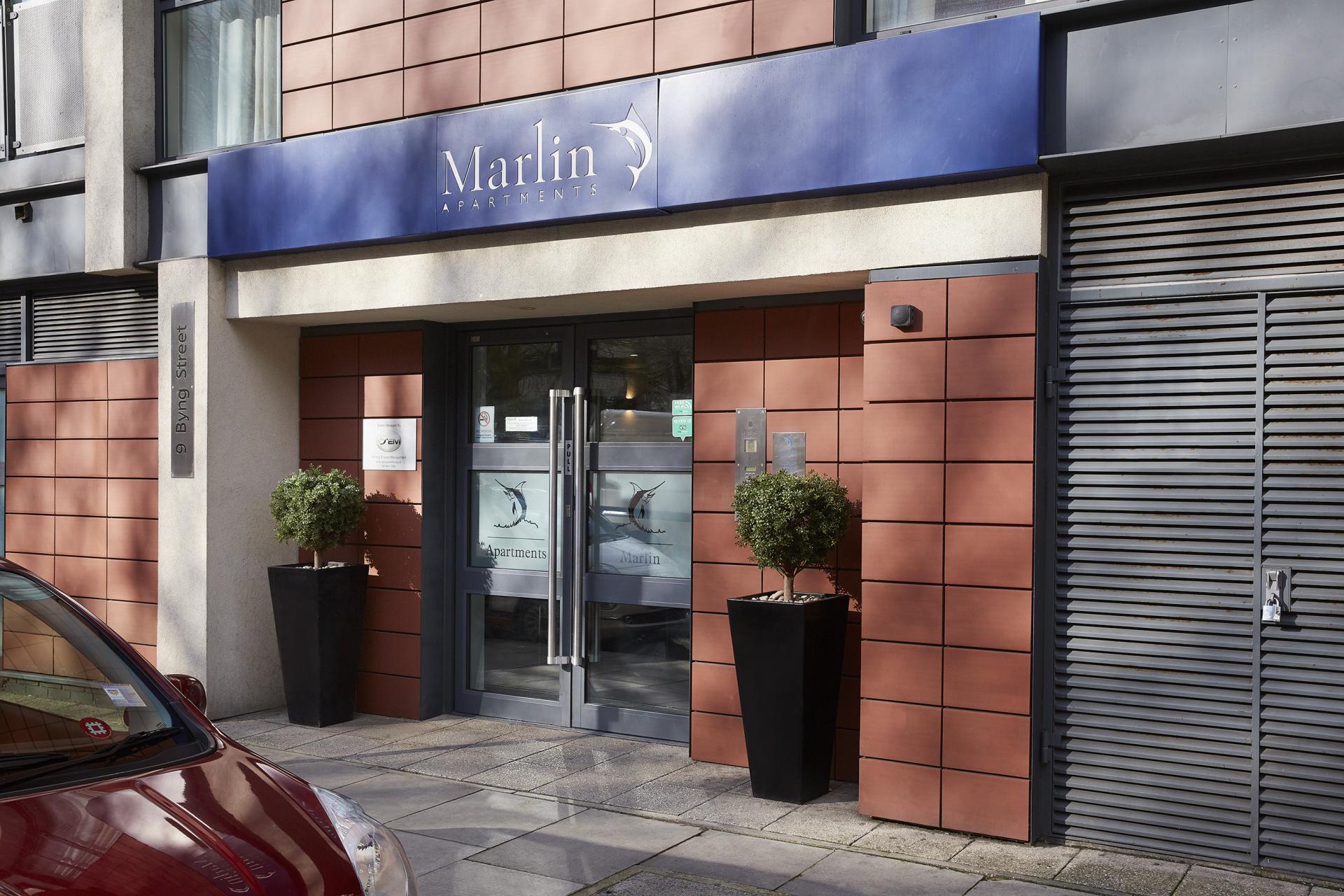 Entrance to Marlin Canary Wharf Apartments, Canary Wharf, London