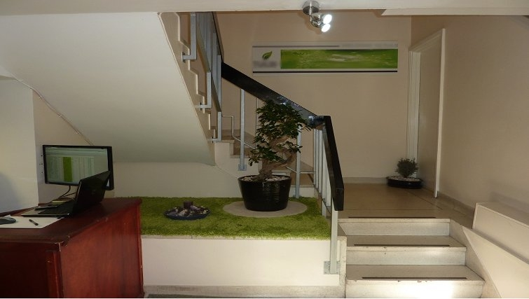 Inviting reception at Croydon High Street Apartments