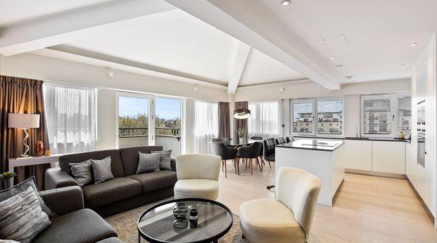 Living room at Vauxhall Bridge Road, Westminster, London