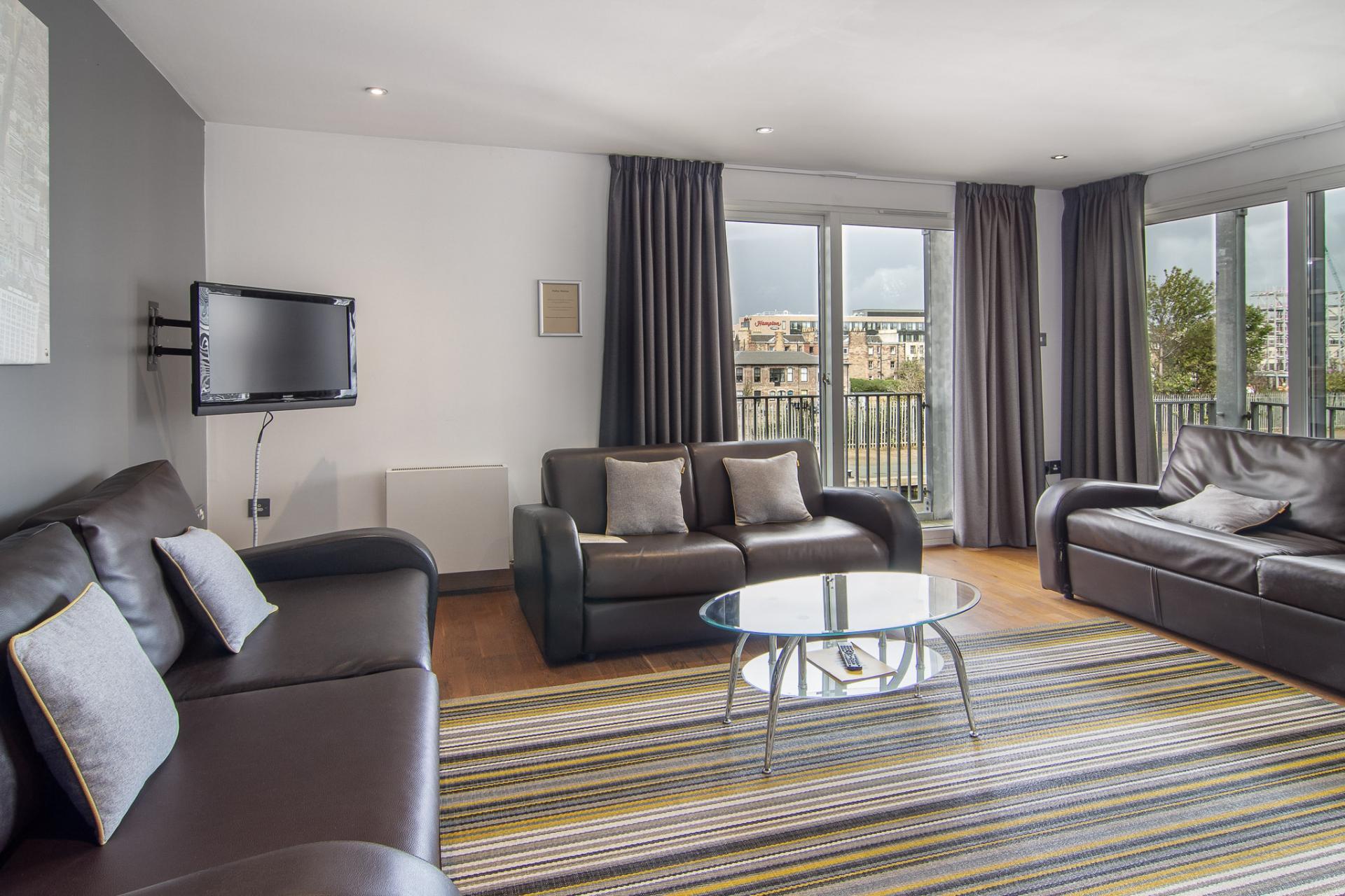 Sofa at Staycity Edinburgh Leamington Wharf, Haymarket, Edinburgh