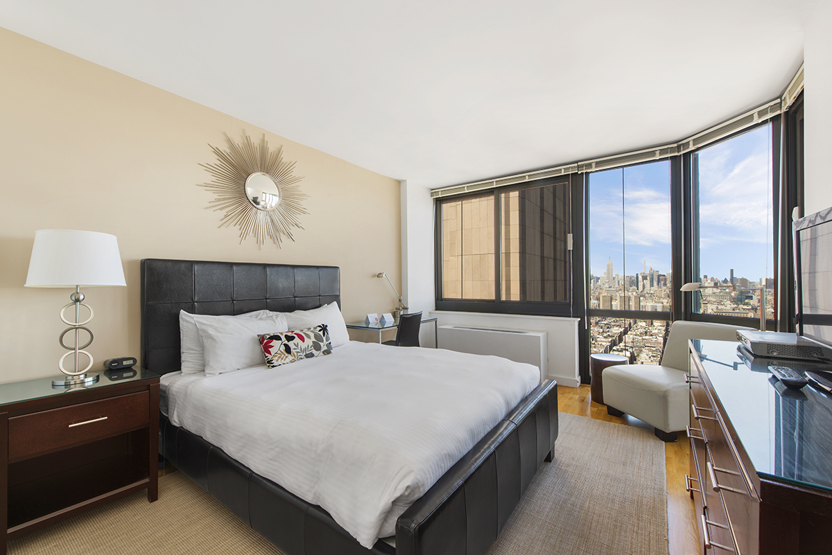 Bedroom at Tribeca Apartments