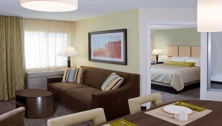 Lovely living area at Candlewood Suites Austin South
