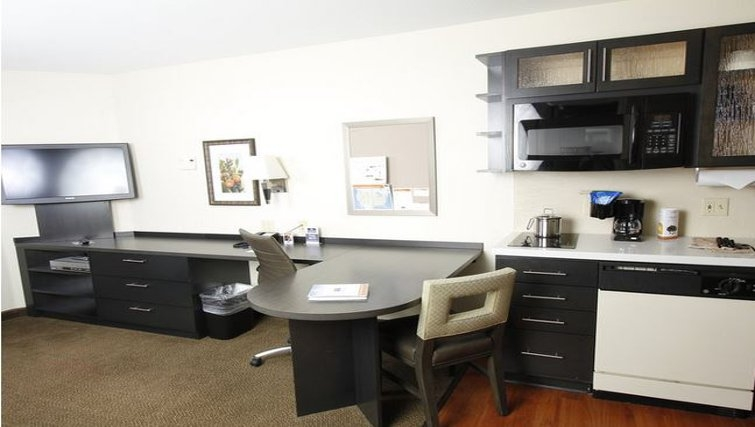 Modern kitchen at Candlewood Suites Austin South