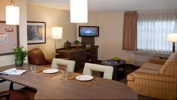 Quaint living area at Candlewood Suites Austin South