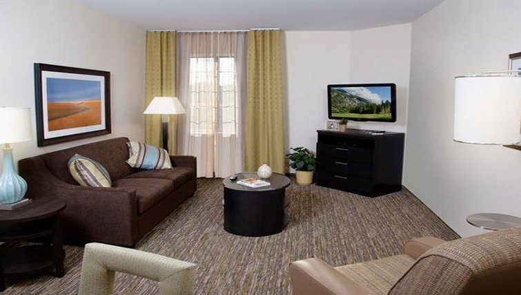 Comfortable living area at Candlewood Suites Austin South