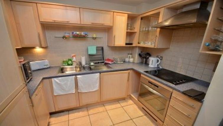 Kitchen at CV Central Apartments