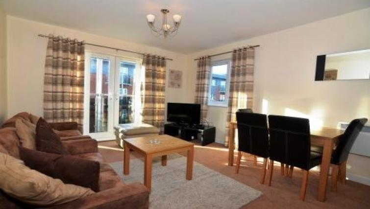 Living area at Bodium & Hever Hall Apartments