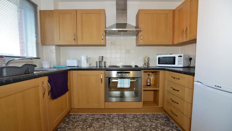 Kitchen at Bodium & Hever Hall Apartments