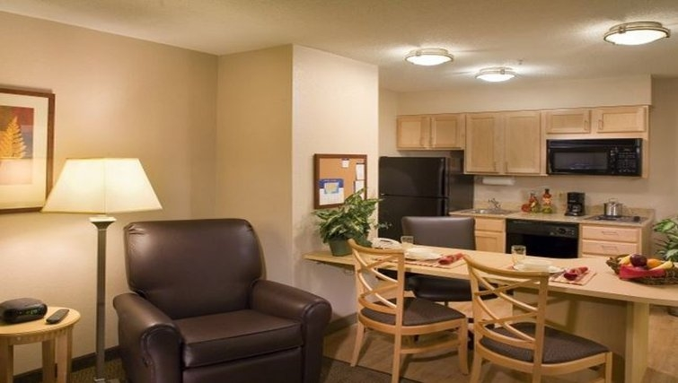 Compact kitchen in Candlewood Suites Baltimore Linthicum