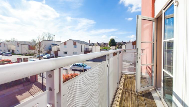 Beautiful balcony at Freemens Meadow Apartments