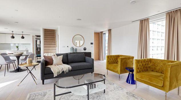 Living room at Southwark Residences, Southwark, London