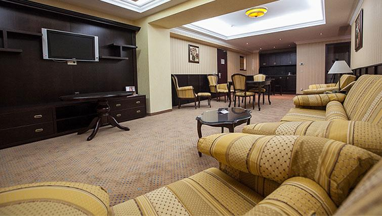 Living area at Ramada Suites Bucharest North