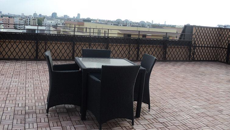 Terrace at Ramada Suites Bucharest North
