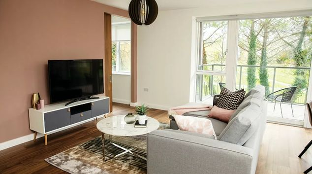 Living space at Fernbank Apartment, Centre, Dublin