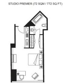Floor plan Ascott Huai Hai Road Apartments