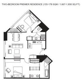 Floor planning Ascott Huai Hai Road Apartments