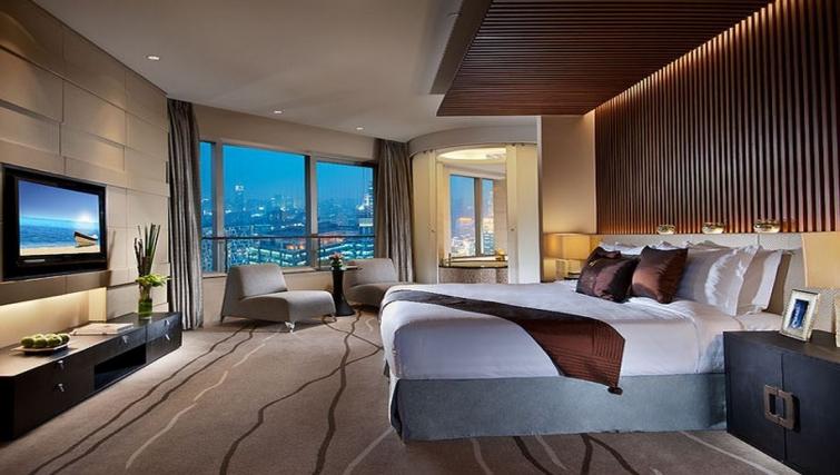 Modern bedroom in Ascott Huai Hai Road Apartments