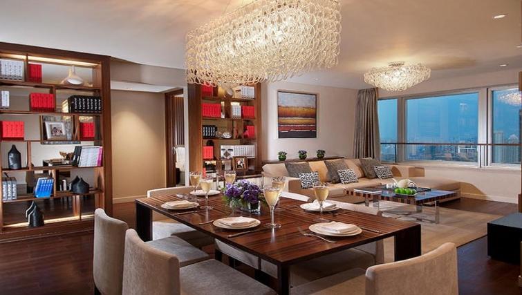 Dining area in Ascott Huai Hai Road Apartments