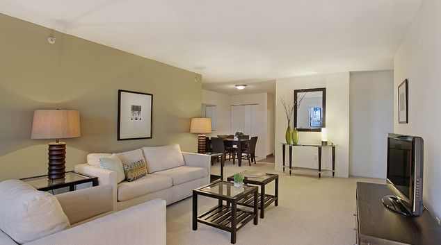 Living room at The Devonshire Serviced Apartments