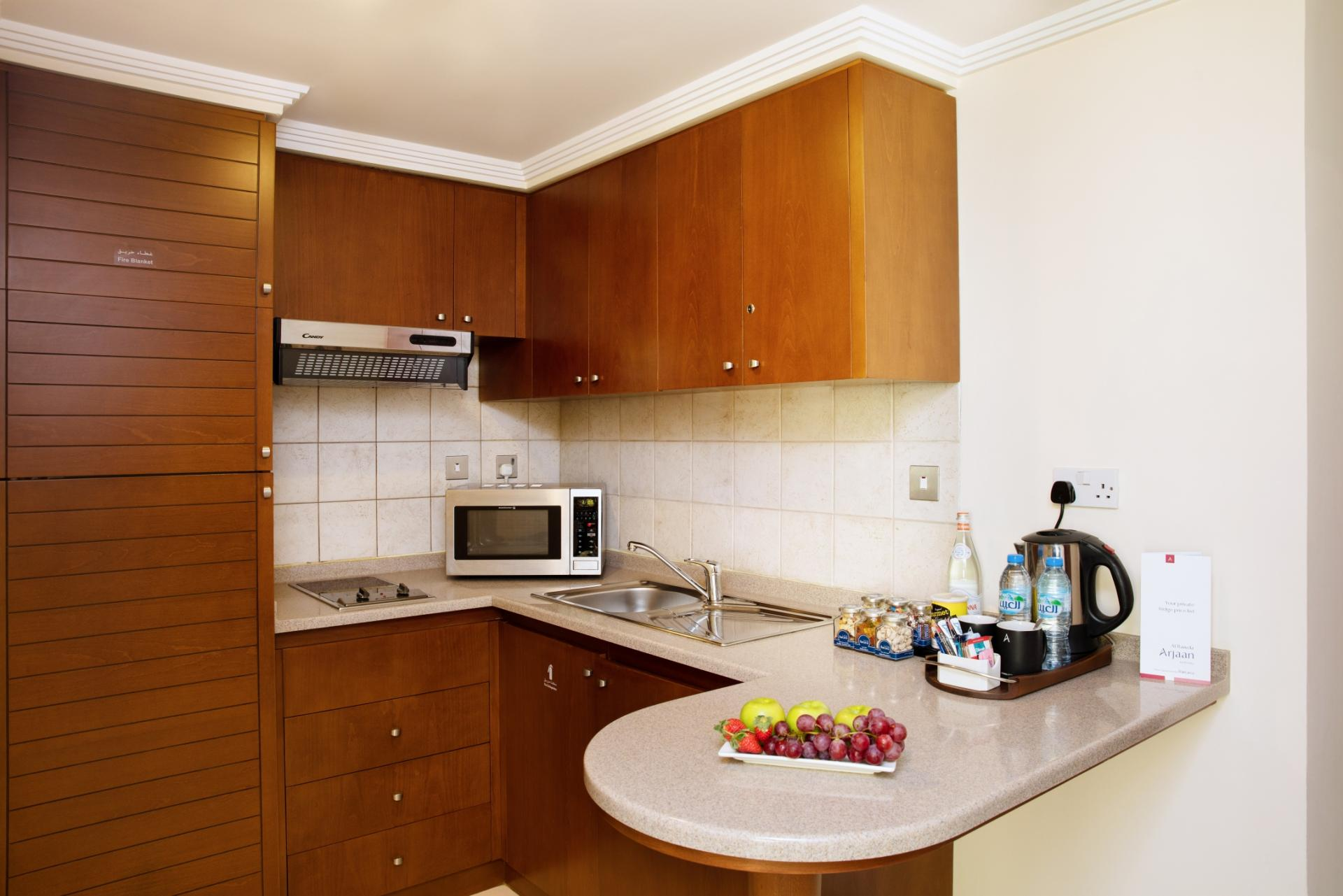 Kitchen in Al Rawda Arjaan Apartments