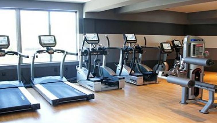 State of the art gym in The Blvd Apartments