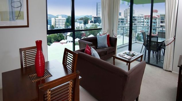 Impeccable living area at Quest Brisbane Spring Hill