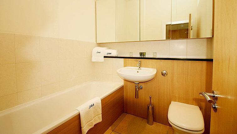 Charismatic bathroom in Fredericks Gate Apartments