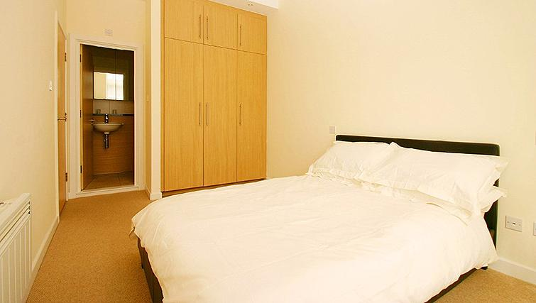 Pristine bedroom in Fredericks Gate Apartments