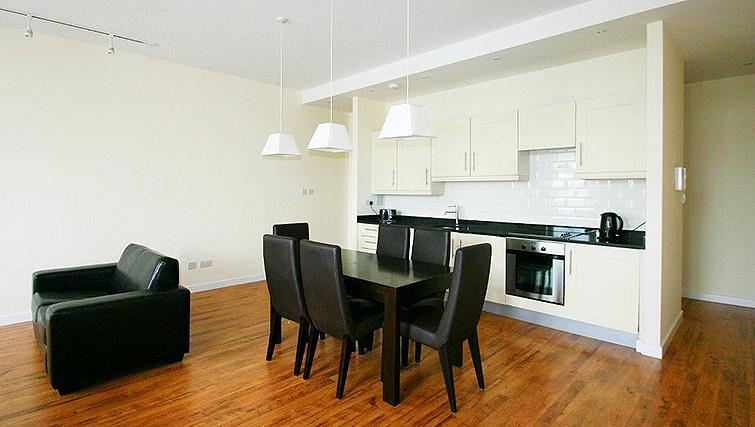 Beautiful living area in Fredericks Gate Apartments