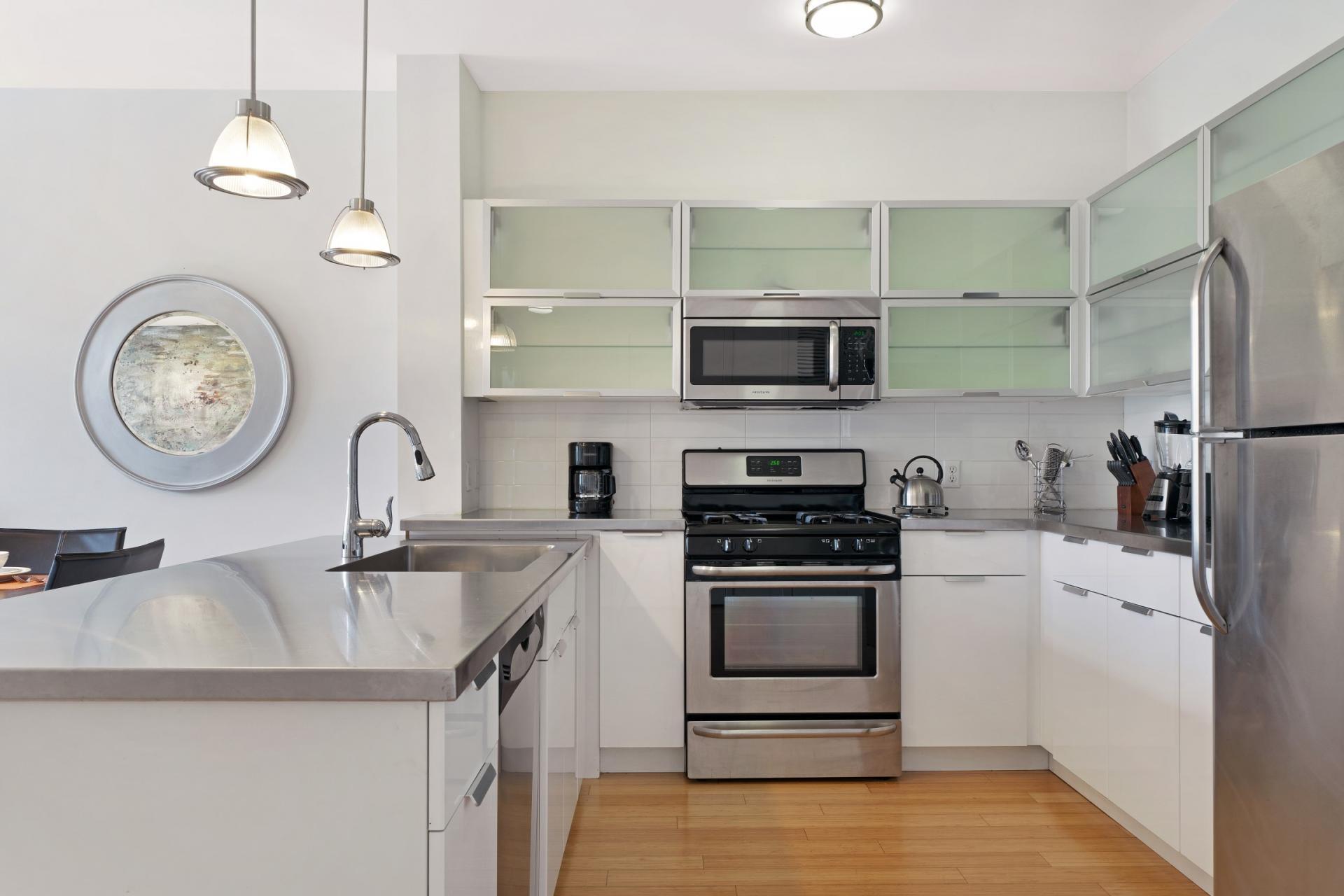 Kitchen at Stamford Blvd Apartments, Centre, Stamford