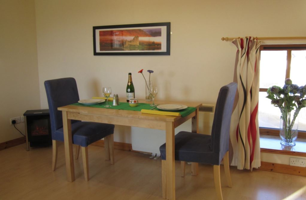 Dining table at Dolphin Bay Suites