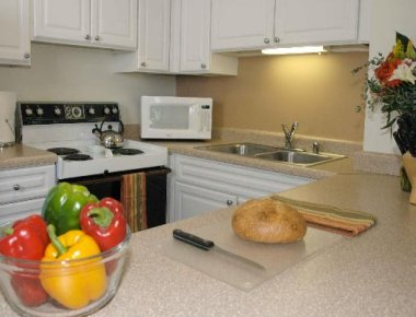 Serene kitchen in West Huron Street Apartments