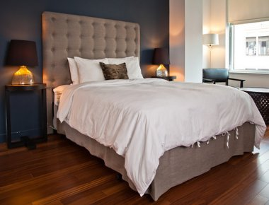 Scenic bedroom in 606 West 42nd Street Apartments