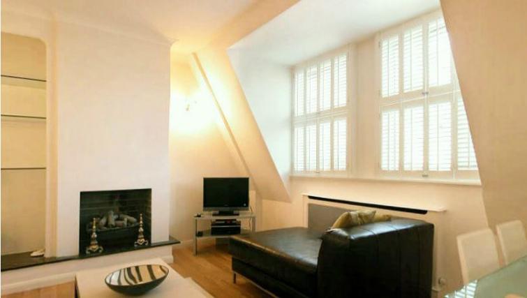 Stylish living area in Barrett Street Apartment