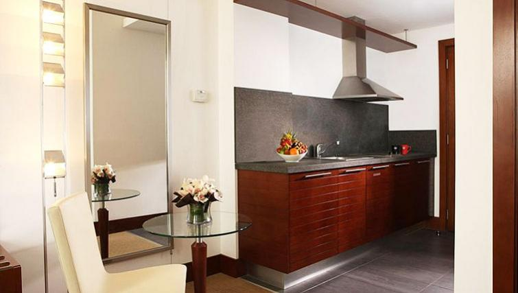 Sophisticated kitchen at Villa Rotana Suites