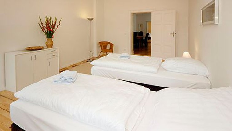 Grand bedroom in Metzer Strasse Apartments