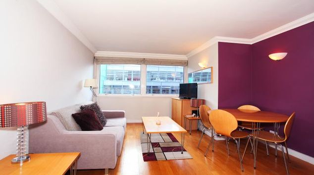 Living area at King Regents Place Apartments