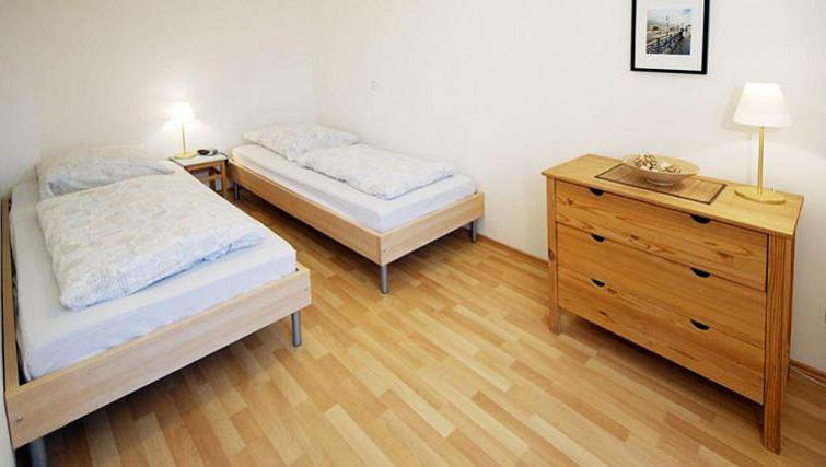 Spacious bedroom at Gartenstrasse Apartments
