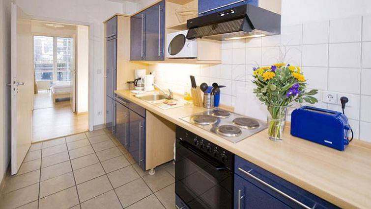 Cosy kitchen at Gartenstrasse Apartments
