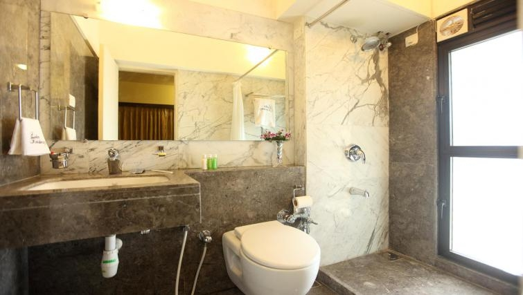 Memorable bathroom in Kalpaturu Apartments