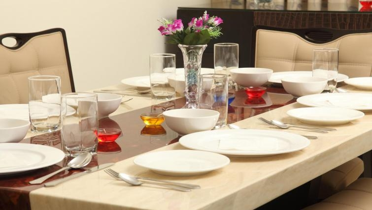 Well equipped dining area in Kalpaturu Apartments