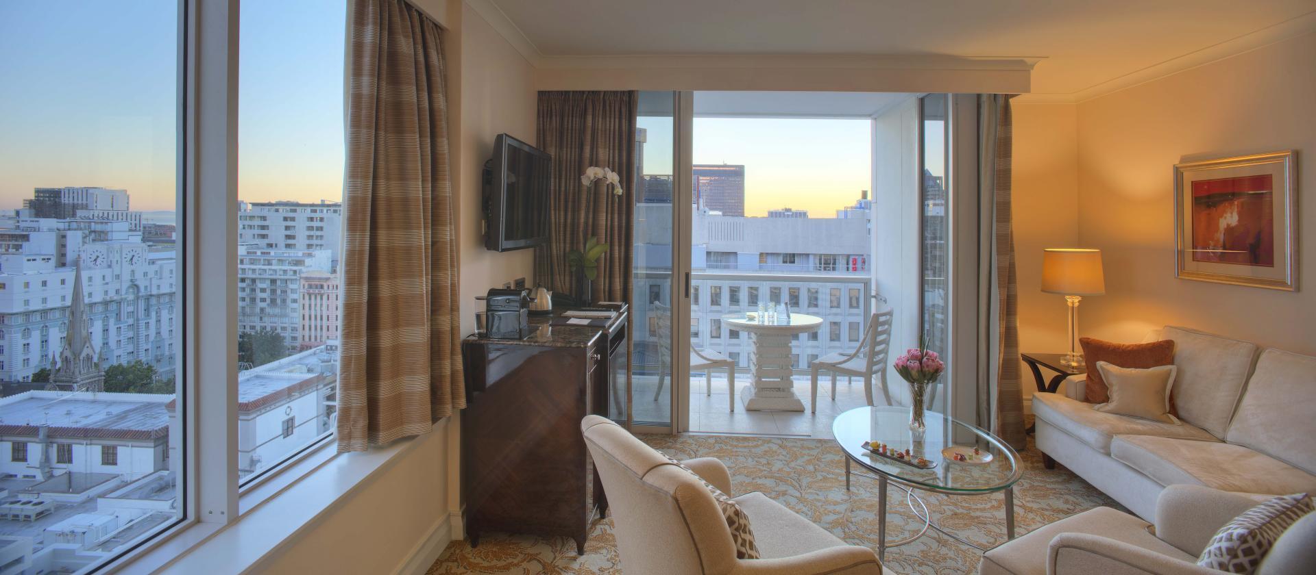 Lounge and Balcony at Taj Cape Town, Centre, Cape Town