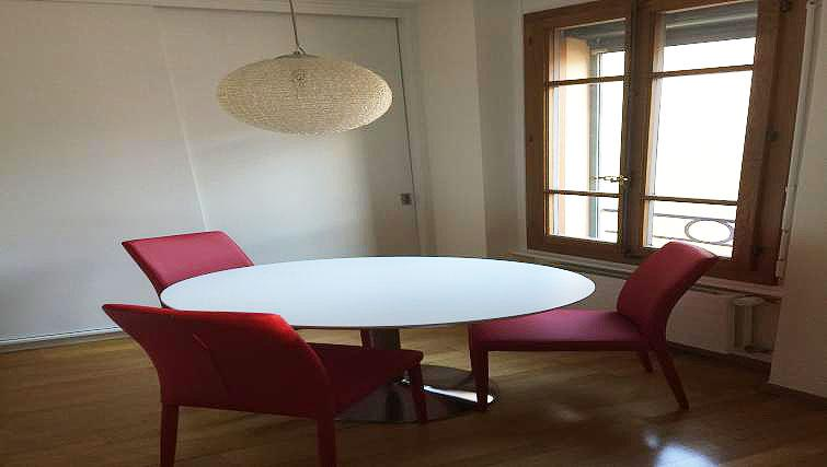 Dining area at Baillive Apartment