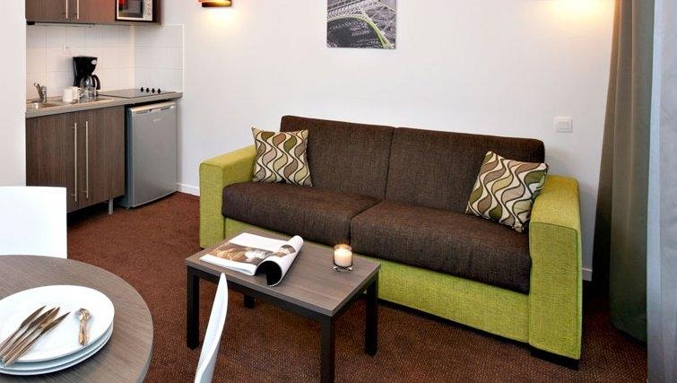 Bright living area in Adagio Access Paris Asnieres