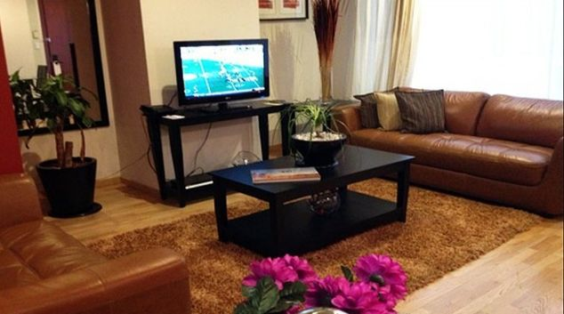 Spacious living area in St Isidro Apartments