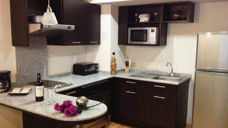 Fresh kitchen in St Isidro Apartments