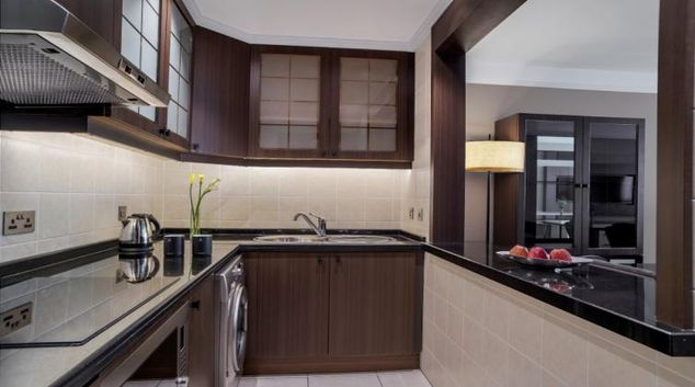 Kitchen at Al Maha Arjaan Apartments