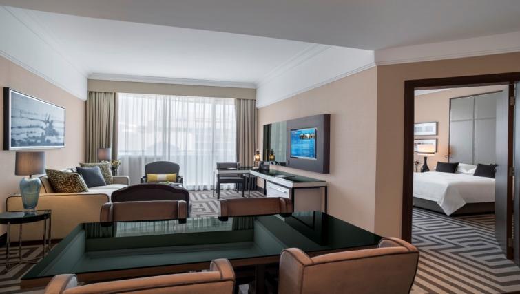 Living area at Al Maha Arjaan Apartments